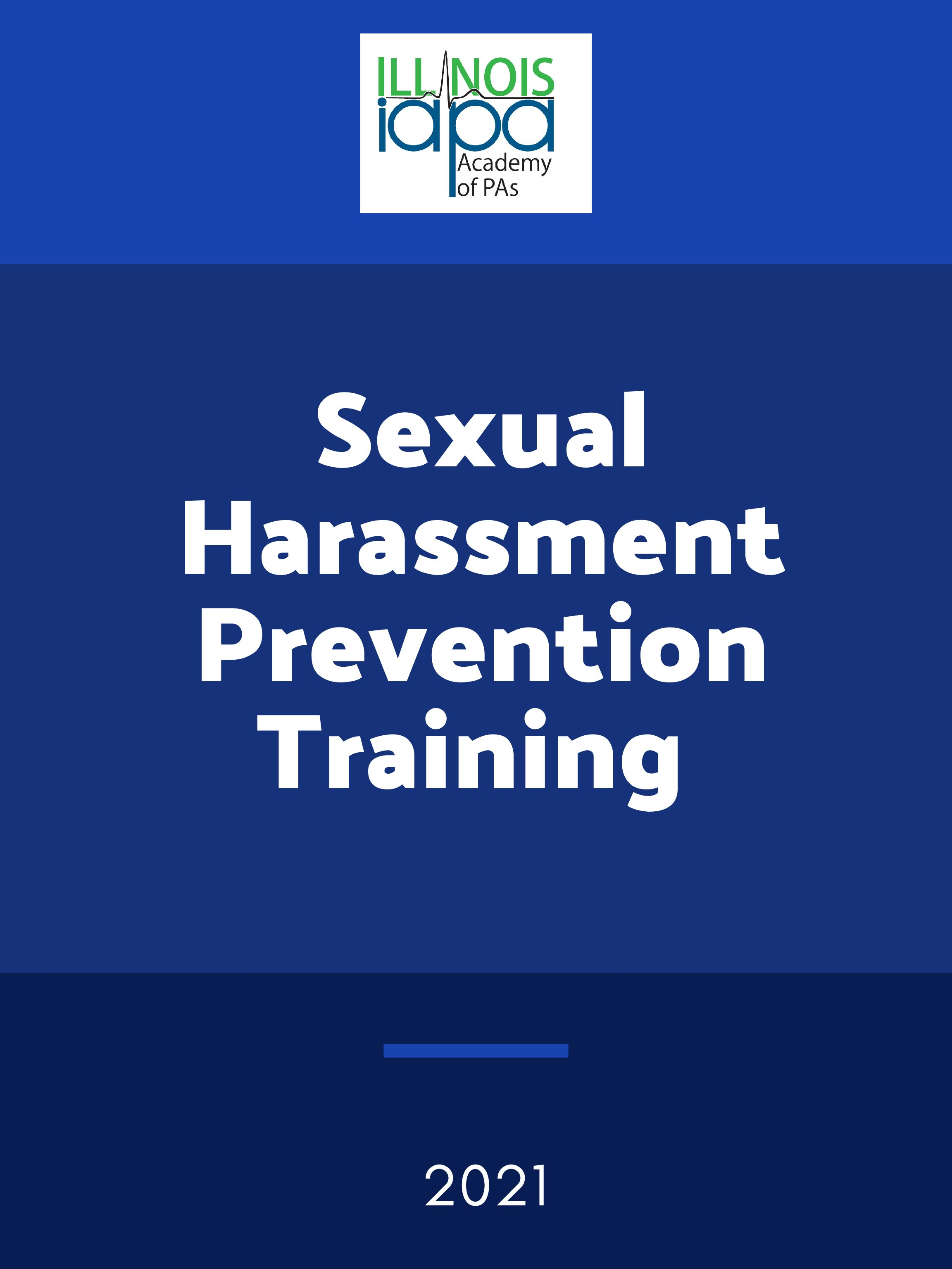 2021 Sexual Harassment Prevention Training – Click Here to Register!